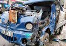 Tin trong nước - Hà Nội: Va chạm xe đầu kéo, tài xế xe tải mắc kẹt trong cabin