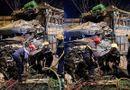 Tin trong nước - Nam Định: Kinh hoàng hiện trường vụ hai xe tải tông trực diện trên quốc lộ 10