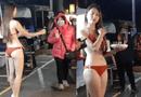 """Tin tức giải trí - Diện bikini để bán ổi bất chấp lạnh 9 độ C, cô gái xinh đẹp khiến dân tình """"tròn mắt"""""""