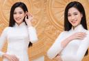 Tin tức giải trí - Hoa hậu Đỗ Thị Hà diện áo dài trắng tinh khôi, khoe vẻ đẹp đúng chuẩn con gái Việt Nam