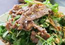 Ăn - Chơi - Thịt bò trộn rau càng cua đủ chất dinh dưỡng, lại giúp da đẹp lên trông thấy