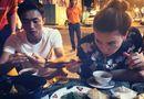 """Chuyện làng sao - Hà Hồ - Cường Đô-la thoải mái ăn khuya """"đập tan"""" tin đồn ly hôn"""