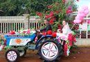 Gia đình - Tình yêu - Trọn bộ ảnh rước dâu bằng xe công nông náo loạn phố núi