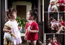 Chuyện làng sao - Khoảnh khắc cực yêu của cặp thiên thần Tôm - Tép nhà Hồng Nhung