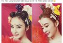 """Chuyện làng sao - Angela Phương Trinh hóa Tiểu Long Nữ với """"tóc đùi gà"""" nhí nhảnh"""