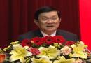 Tin trong nước - Chủ tịch nước Trương Tấn Sang chúc Tết Tổng cục V, Bộ Công an
