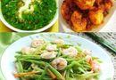 Ăn - Chơi - Thực đơn tối nay: Canh cua rau đay, tôm kho tàu, đậu que xào tôm