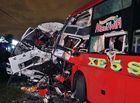 Tin trong nước - Bình Thuận: Xe khách tông trực diện xe tải trong đêm, 2 tài xế tử vong tại chỗ