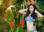 Trà Giang diện bikini, thả dáng giữa rừng cây xanh mướt - Ảnh thứ 3