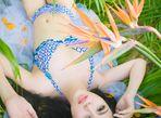 Trà Giang diện bikini, thả dáng giữa rừng cây xanh mướt - Ảnh thứ 4