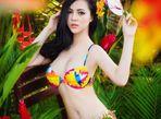 Trà Giang diện bikini, thả dáng giữa rừng cây xanh mướt - Ảnh thứ 8