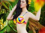 Trà Giang diện bikini, thả dáng giữa rừng cây xanh mướt - Ảnh thứ 10
