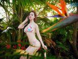 Trà Giang diện bikini, thả dáng giữa rừng cây xanh mướt - Ảnh số 2