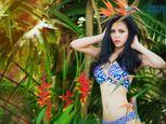 Trà Giang diện bikini, thả dáng giữa rừng cây xanh mướt - Ảnh số 3