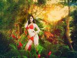 Trà Giang diện bikini, thả dáng giữa rừng cây xanh mướt - Ảnh số 9