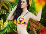 Trà Giang diện bikini, thả dáng giữa rừng cây xanh mướt - Ảnh số 10