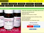 """Tin tức - Vinaca ung thư Co3 bằng than tre tự quảng cáo """"trị ung thư số 1 thế giới"""""""