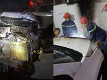 Ô tô 7 chỗ bất ngờ bốc cháy dữ dội đúng ngày mùng 1 Tết