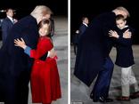 Hai nhóc tì được Tổng thống Trump âu yếm gây chú ý, chiếm trọn