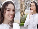 Hiền Thục diện áo dài trắng đẹp mong manh thanh khiết, kể chuyện