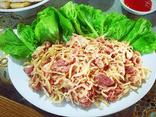 Quyền lợi tiêu dùng - Thịt chua Đu đủ - Đặc sản không thể bỏ lỡ khi về với núi rừng Tân Sơn