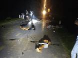 Phú Thọ: Hiện trường vụ nhiều xe máy lao vào nhau trong đêm Trung thu, 5 người tử vong