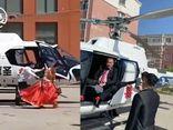 Chú rể dùng hẳn trực thăng đón dâu, dân mạng quay ra tranh cãi gay gắt