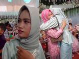 Tới dự đám cưới bạn trai cũ, cô gái và mẹ chú rể bất ngờ ôm nhau khóc nức nở