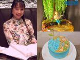 Cộng đồng mạng - Cô nàng 9X làm bánh kem tạo hình thiên nhiên: Từ tổ ong, chậu bon sai tới bể cá sinh động không thể rời mắt