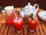 Ăn - Chơi - Cách pha trà dưa hấu mát lạnh, vị ngon tuyệt hảo