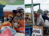 Người đàn ông chở cả gia đình trên chiếc xe ba gác vượt gần 2000km từ TP.HCM về Thái Bình
