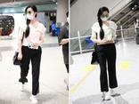 Phạm Băng Băng xuất hiện ở sân bay Bắc Kinh, né tránh khi được hỏi về Triệu Vy