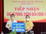 Công ty Cổ phần Tập đoàn Cienco4 ủng hộ 900 triệu đồng cho Quỹ phòng chống dịch COVID-19 tại Hà Nội, Nghệ An
