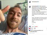 Hình ảnh đầu tiên của tiền vệ Christian Eriksen sau sự cố ngừng tim