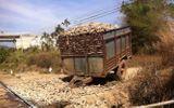 Tàu lửa tông xẻ đôi máy cày, đường sắt Bắc Nam tê liệt hàng giờ