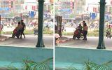Xôn xao cảnh cô gái cãi nhau rồi cởi đồ giữa phố
