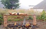 """""""Nướng"""" mình trên lửa để đốt cháy tế bào ung thư"""