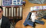 Bắt người đàn ông vượt biên với súng K54 và 44 viên đạn
