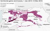 IS mất 22% lãnh thổ từ đầu năm 2015 đến nay
