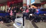 Dân mạng bức xúc cảnh nhân viên quỳ, bò khắp phố vì công ty kinh doanh thua lỗ