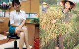 """Bức ảnh """"Hot girl"""" gặt lúa gây tranh cãi cộng đồng mạng"""