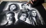 Nghệ sĩ vẽ tranh bằng … muối