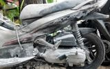 Xe Air Blade phát nổ, cháy dữ dội khi đang lưu thông