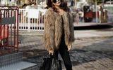 Áo khoác lông đẹp sang trọng phù hợp đi làm, đi tiệc
