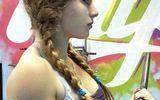 Video: Nữ lực sỹ khoe cơ bắp cuồn cuộn, lộ ngực căng đầy gây sốt