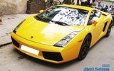 Bò vàng Lamborghini Gallardo tái xuất trên phố Hà Nội
