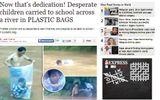 Báo chí Anh khâm phục cô – trò chui túi nilon qua suối