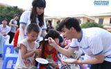 Trương Phương, Trung Quân tới thăm trẻ em làng Hữu nghị Việt Nam