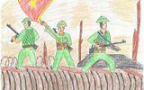 Chiến thắng Điện Biên Phủ qua bàn tay của họa sĩ nhí