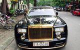 Rolls-Royce Phantom mạ vàng, chạm rồng thời Lý trên phố Hà thành